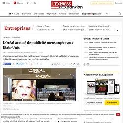 L'Oréal accusé de publicité mensongère aux Etats-Unis
