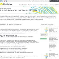 Publicité dans les médias numériques