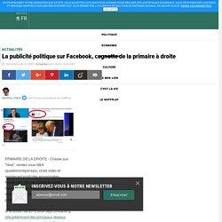 La publicité politique sur Facebook, cagnotte de la primaire à droite