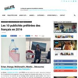 Les 10 publicités préférées des français en 2016LLLLITL