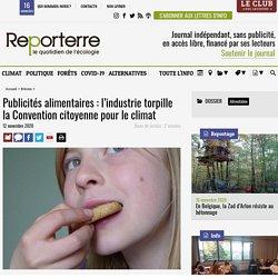 Publicités alimentaires: l'industrie torpille la Convention citoyenne pour le climat