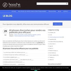 60 phrases d'accroches pour publicités - Infographiste Colmar, Kaache