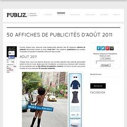 50 affiches de publicités d'Août 2011