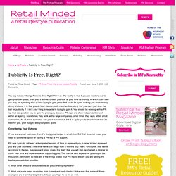 Publicity - Retail Minded