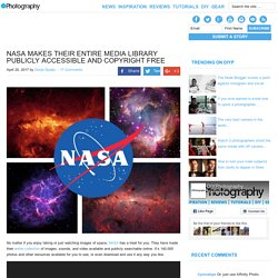 NASA makes their entire media library publicly accessible and copyright free