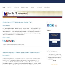 PublicSquare.net - Common Ground, Uncommon Debate