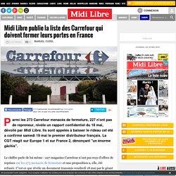 Midi Libre publie la liste des Carrefour qui doivent fermer leurs portes en France