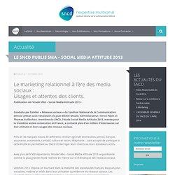 LE SNCD PUBLIE SMA – SOCIAL MEDIA ATTITUDE 2013