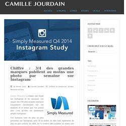 Chiffre : 3/4 des grandes marques publient au moins une photo par semaine sur InstagramLe blog de Camille Jourdain