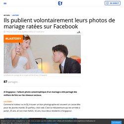 Ils publient volontairement leurs photos de mariage ratées sur Facebook