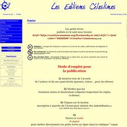 Publier - Les Éditions Célestines
