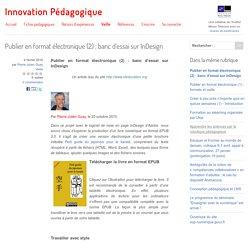 Publier en format électronique (2) : banc d'essai sur InDesign