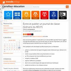 Écrire et publier un journal de classe (Scénario du RÉCIT)