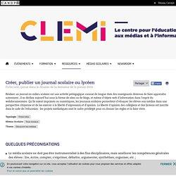 Créer, publier un journal scolaire ou lycéen- CLEMI