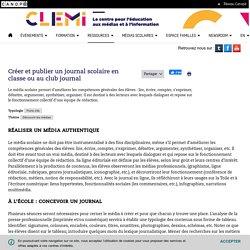 Créer et publier un journal scolaire en classe ou au club journal- CLEMI