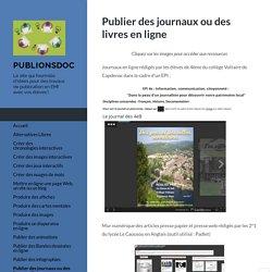 Publier des journaux ou des livres en ligne