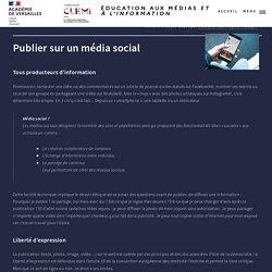 Publier sur un média social