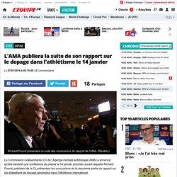 Dopage - L'AMA publiera la suite de son rapport sur le dopage dans l'athlétisme le 14 janvier