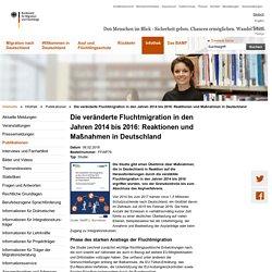 Alle EMN-Publikationen - Die veränderte Fluchtmigration in den Jahren 2014 bis 2016: Reaktionen und Maßnahmen in Deutschland
