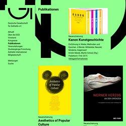 Publikationen : Deutsche Gesellschaft für Ästhetik