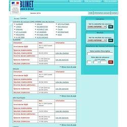 PUBLINET - Calendrier CAPES interne