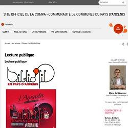Lecture publique- Communauté de Communes du Pays d'Ancenis