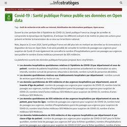 Covid-19 : Santé publique France publie ses données en Open data