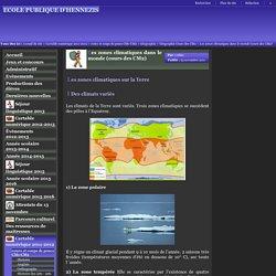 ECOLE PUBLIQUE D'HENNEZIS - Les zones climatiques dans le monde (cours des CM2)