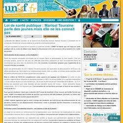 Loi de santé publique : Marisol Touraine parle des jeunes mais elle ne les connait pas