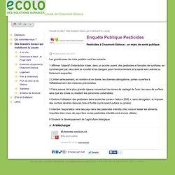 ECOLO_BE 02/04/13 Enquête Publique Pesticides - Pesticides à Chaumont-Gistoux : un enjeu de santé publique