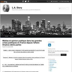 Médias et opinion publique dans les grandes crises politiques en France depuis l'affaire Dreyfus (3ème partie) - blog histoire geographie lycée eaubonne