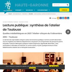 Lecture publique : synthèse de l'atelier de Toulouse