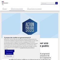 Action Publique 2022 : pour une transformation du service public