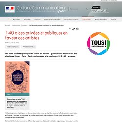 140 aides privées et publiques en faveur des artistes