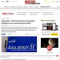 """Open data: """"Pour les citoyens, les données publiques sont souvent inaccessibles"""""""