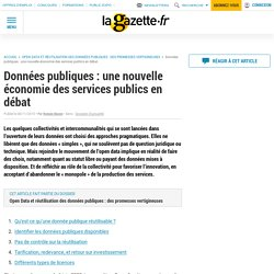 Données publiques : une nouvelle économie des services publics en débat