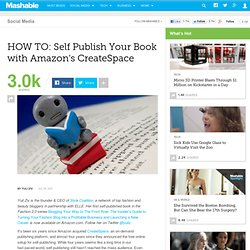 HOW TO: Self Publish Your Book with Amazon's CreateSpace