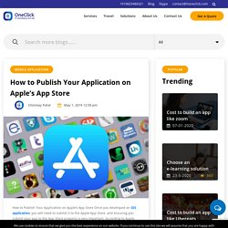 How to Publish Your Application on Apple's App Store