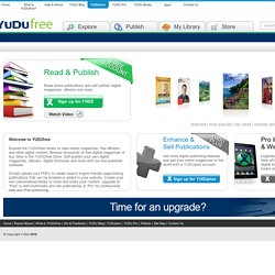 Publish Digital Magazines and More Online for Free | YUDU
