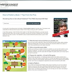Learn How to Publish a Book: FREE Download from Writer's Digest