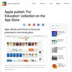 Apple publish 'For Education' collection on the App Store