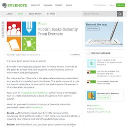 Publish Books Instantly From Evernote