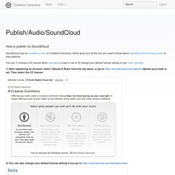 Publish/Audio/SoundCloud - Creative Commons