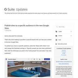 Publish sites to a specific audience in the new Google Sites