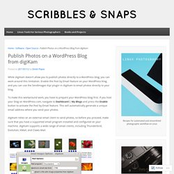 Publish Photos on a WordPress Blog from digiKam