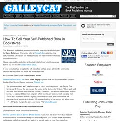 How To Sell Your Self-Published Book in Bookstores
