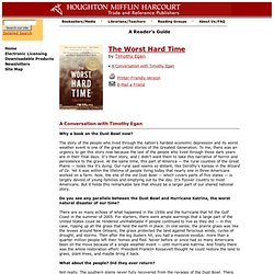 Reader's Guide for The Worst Hard Time published by Houghton Mifflin Company