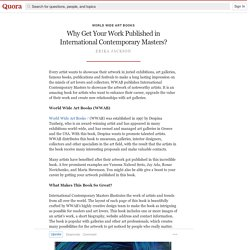 Why Get Your Work Published in International Co... - World Wide Art Books - Quora