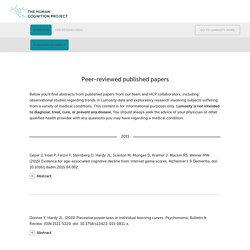 Published Papers - HCP