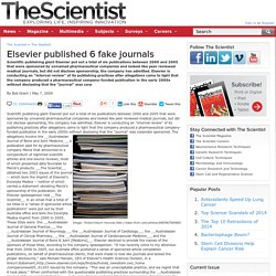Elsevier published 6 fake journals
